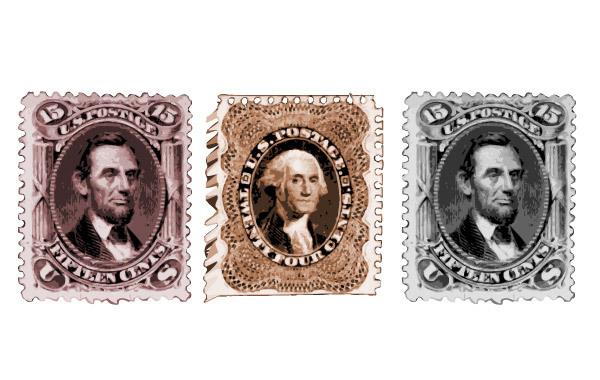 Free Vectors: Vintage US President Postage Stamps | 123freevectors