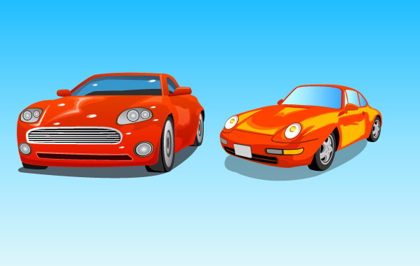 Free Two red cars