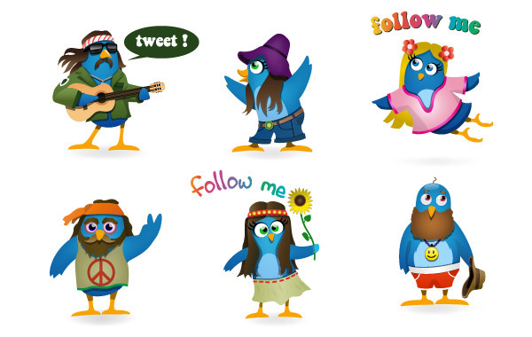 Free Woodstock Twitter Icons set