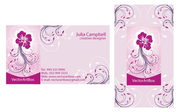 Free Vector Elegant B-card