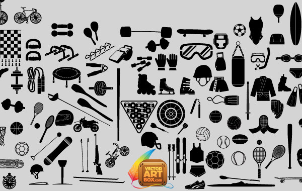 Free Vectors: Free Sport Equipments | vectorartbox