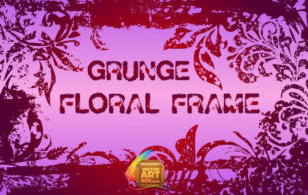 Free Grunge Floral Frame