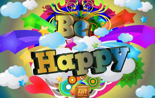 Free Be Happy Vector