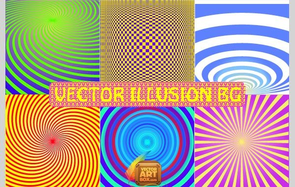 Free Vector Illusion Background