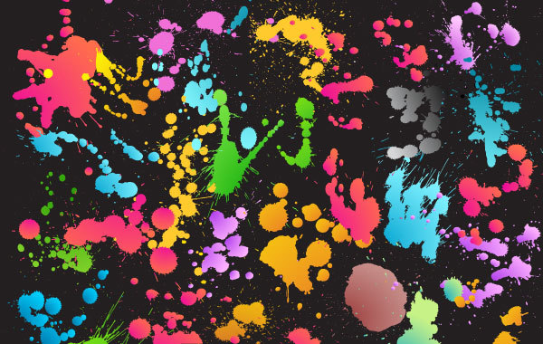 Free Colourful Splat Background