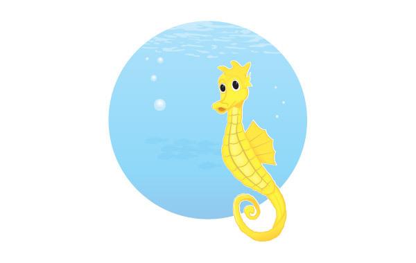 Free Free Vector Seahorse