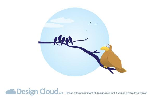 Free Free Vector Bird Branches