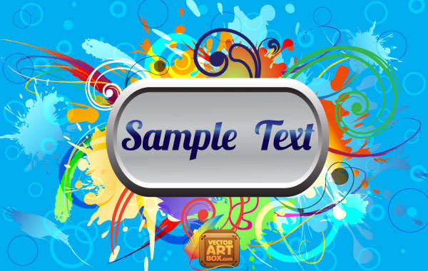 Free Abstact Colorful Frame