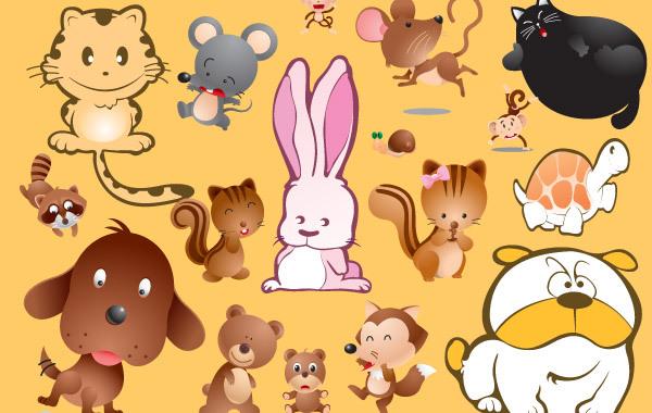 Free Cartoon Pets Vectors