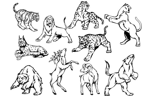Free 10 Animal Vector Mascots