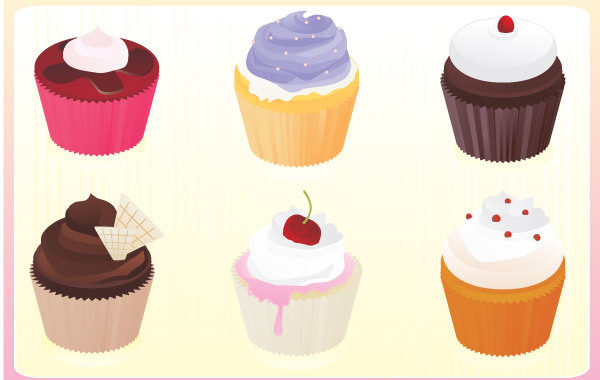 Free Free vector cupcakes