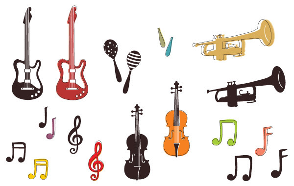 Free Musical instruments and notes