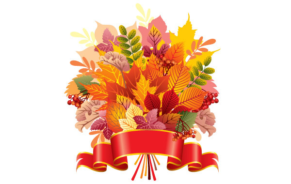 Free Autumn Leaf Bouquet