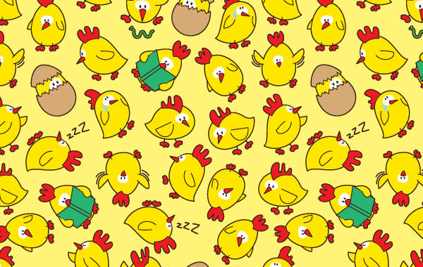 Free Seamless pattern chicken