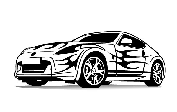 Free Sports Car Vector Image