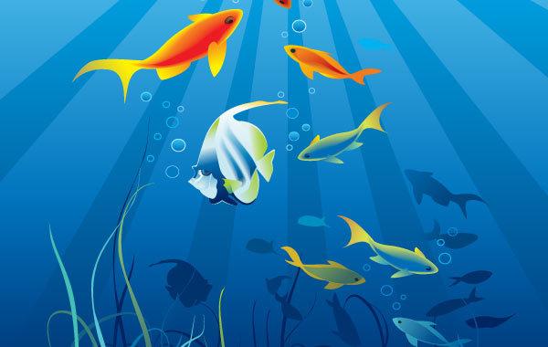 Free World of Underwater Vectors