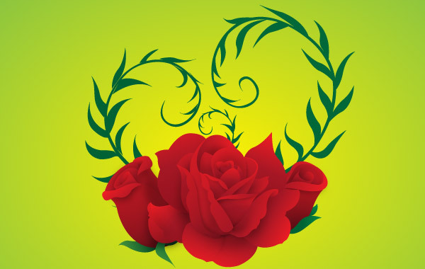 Free Free Vector Rose green background