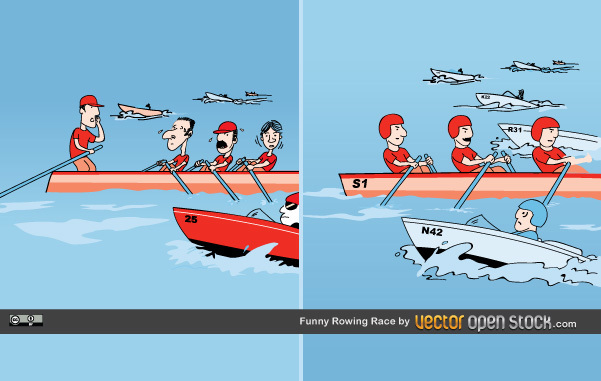 Free Funny Rowing Race