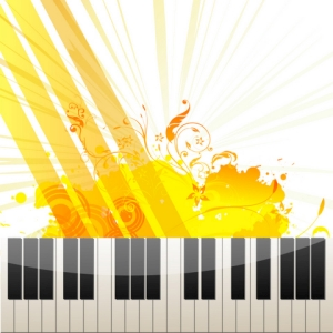 Free Piano Keys on Abstract Background