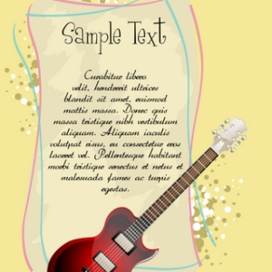 Free Guitar With Text Template