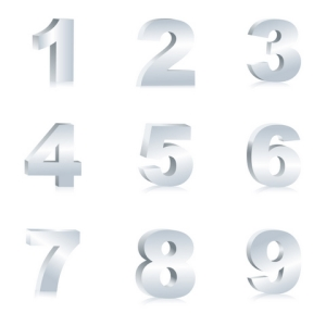 Free Vectors: Number Set | Vector Fresh