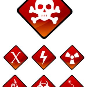 Free Vectors: Warning Sign Icons | Vector Fresh