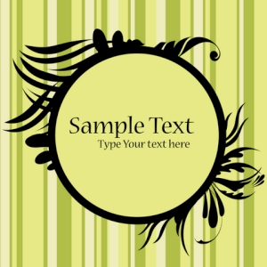 Free Floral Frame with Sample Text
