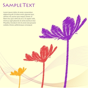 Free Vector Floral Template