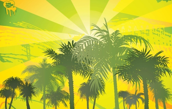 Free Palm Trees background 8