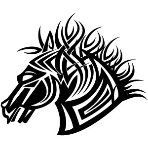 Free Tribal Horse Vector