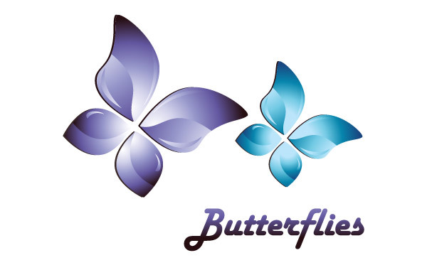 Free 3D Butterfly Vector