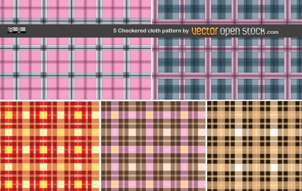 Free 5 Checkered cloth pattern