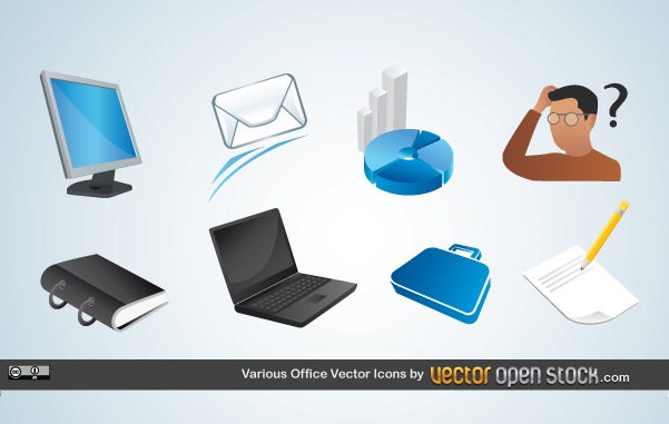 Free Various Office Vector Icons