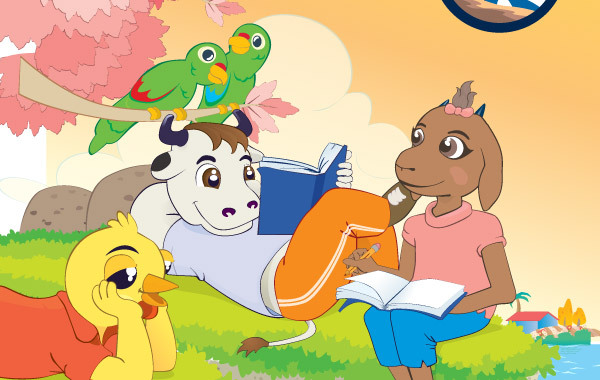 Free Animals Reading Books
