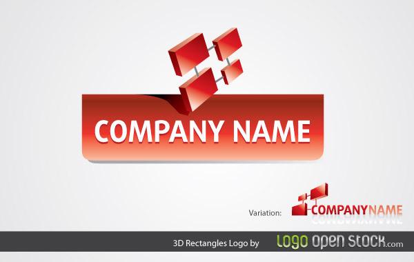 Free 3D Rectangles Logo