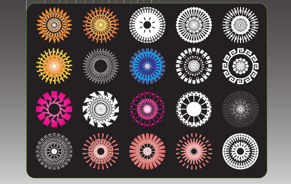 Freebie Ridiculously Cool Hippy Flower Symbols
