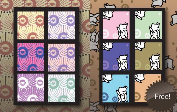 Free Free Illustrator Patterns - Japanese Bunnies