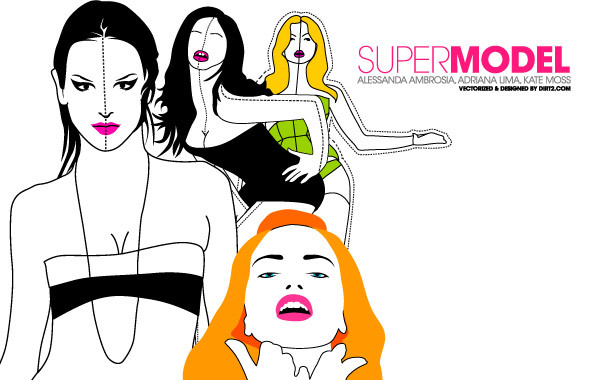 Free Supermodel Vector Pack