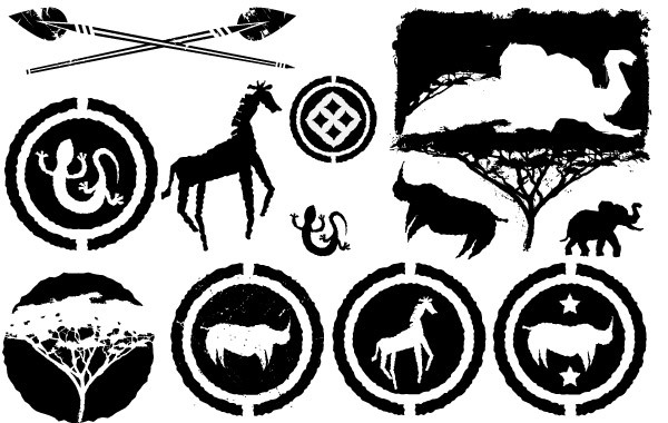 Free Free Africa Silhouette Vector Pack