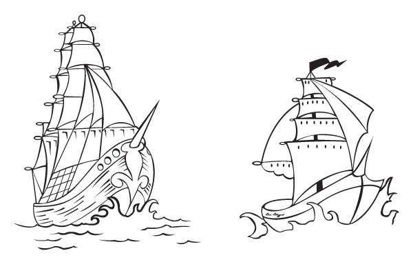 Free Free Vector Pirate Ships