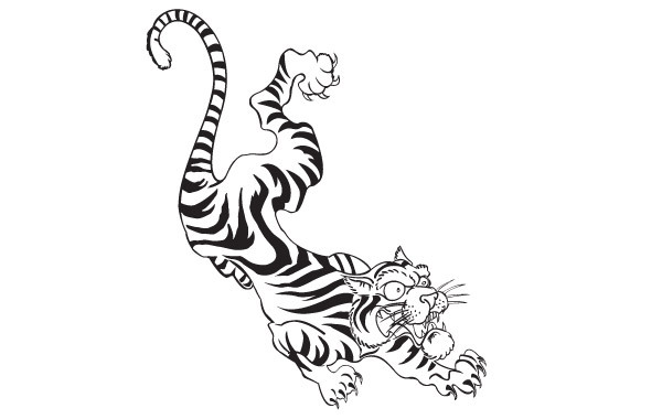 Free FREE TATTOO STYLE VECTOR TIGER