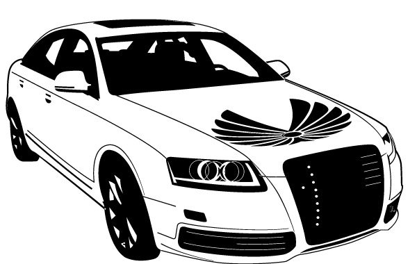 Free Audi Car Vector
