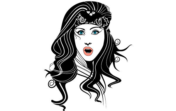 Free Gypsy Woman Vector