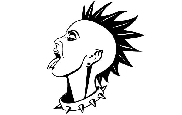 Free Punk Girl Vector