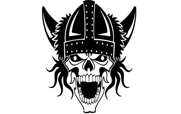 Free Viking Skull Vector