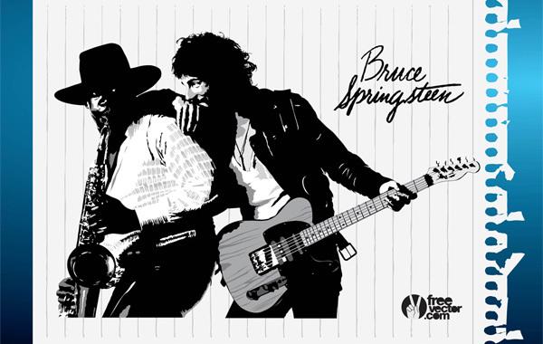 Free Bruce Springsteen Vector