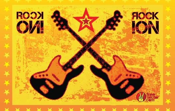 Free Rock Guitars Vector