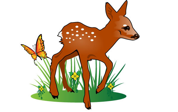 Free Young Deer Vector Illustration