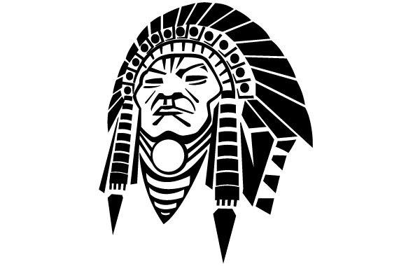Free American Native Face Vector