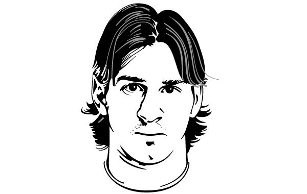 Free Lionel Messi Vector Portrait